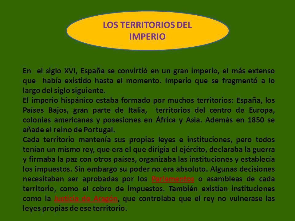 LOS TERRITORIOS DEL IMPERIO