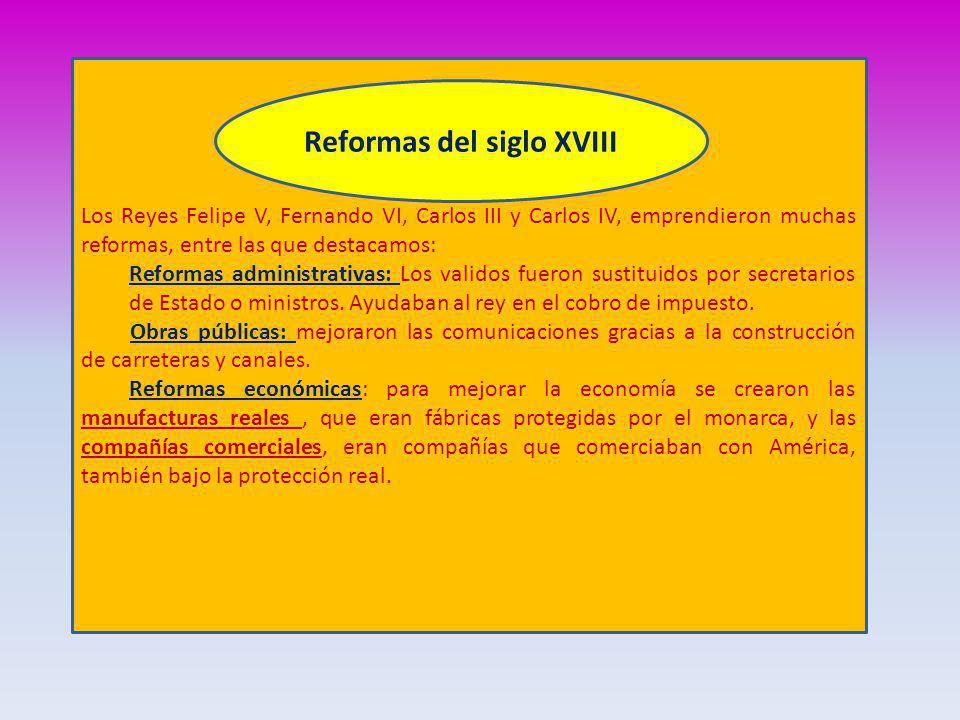 Reformas del siglo XVIII
