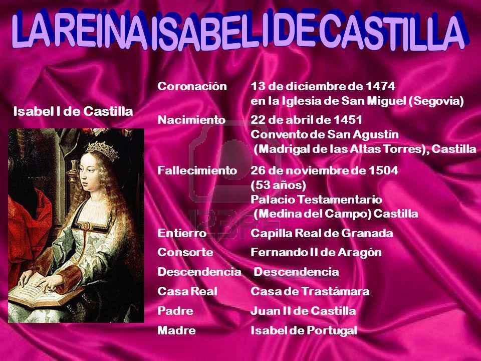 LA REINA ISABEL I DE CASTILLA