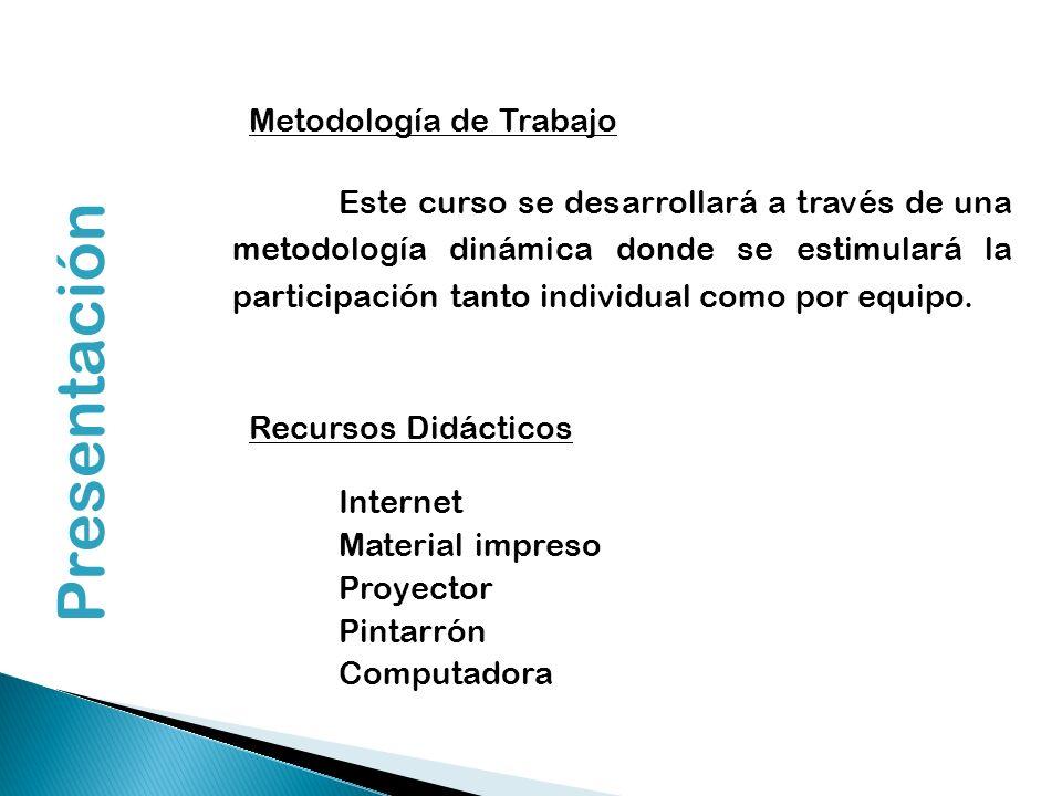 Presentación Metodología de Trabajo