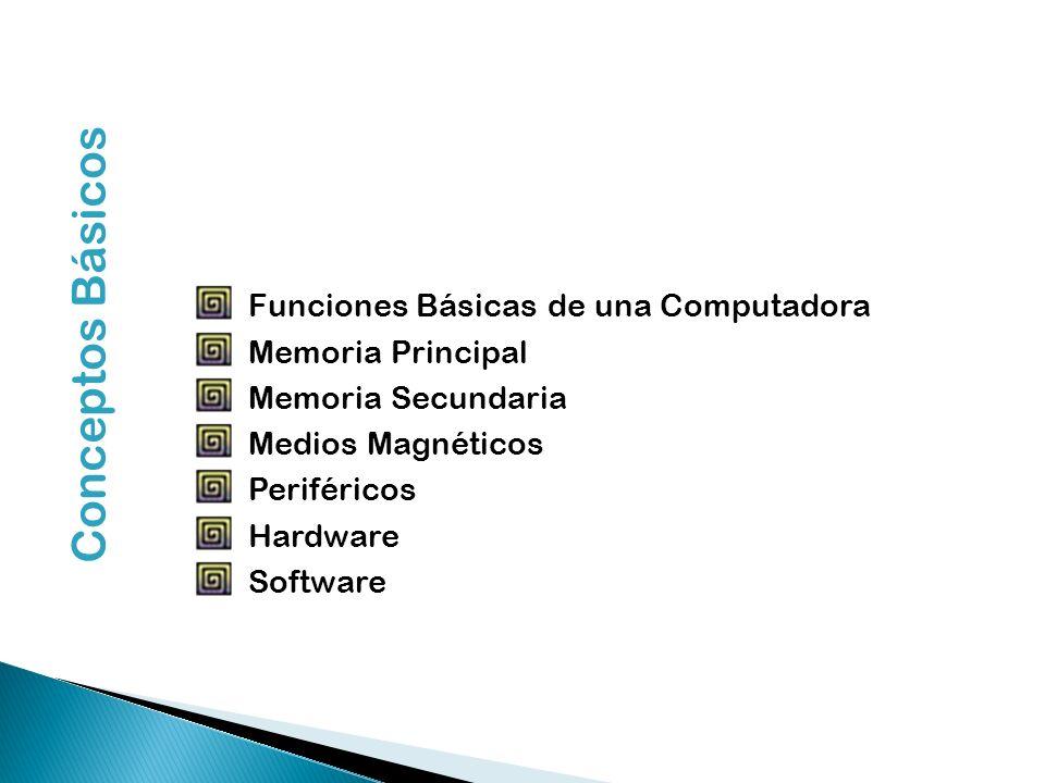 Conceptos Básicos Funciones Básicas de una Computadora