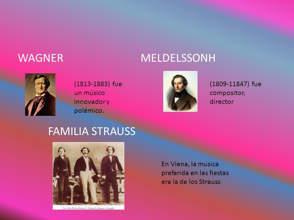 WAGNER MELDELSSONH FAMILIA STRAUSS