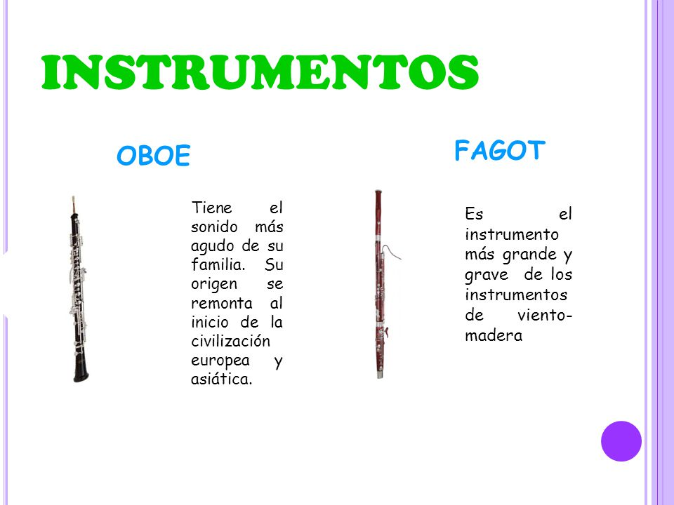 INSTRUMENTOS FAGOT OBOE