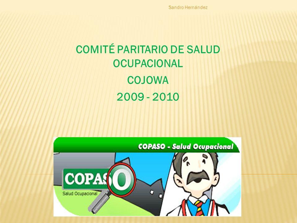COMITÉ PARITARIO DE SALUD OCUPACIONAL COJOWA 2009 - 2010