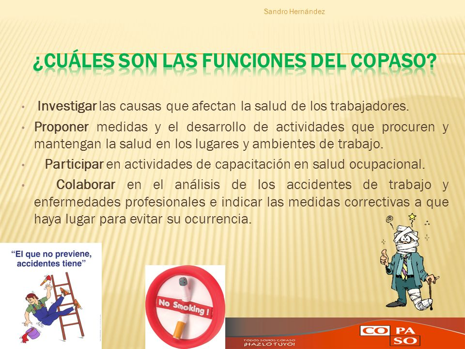 ¿Cuáles son las Funciones del COPASO
