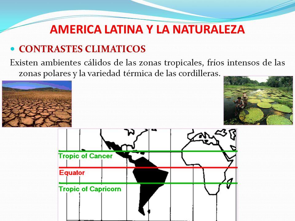 AMERICA LATINA Y LA NATURALEZA