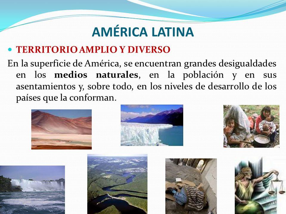 AMÉRICA LATINA TERRITORIO AMPLIO Y DIVERSO