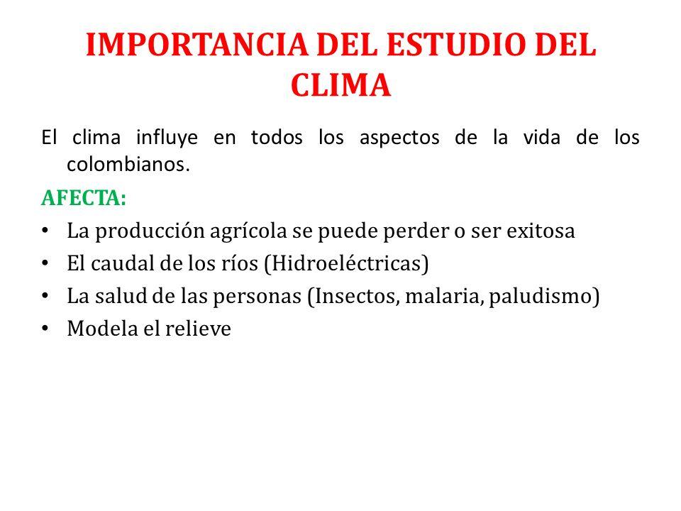 IMPORTANCIA DEL ESTUDIO DEL CLIMA