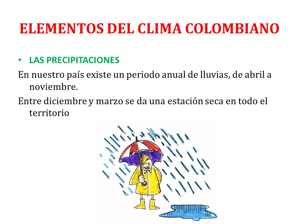 ELEMENTOS DEL CLIMA COLOMBIANO