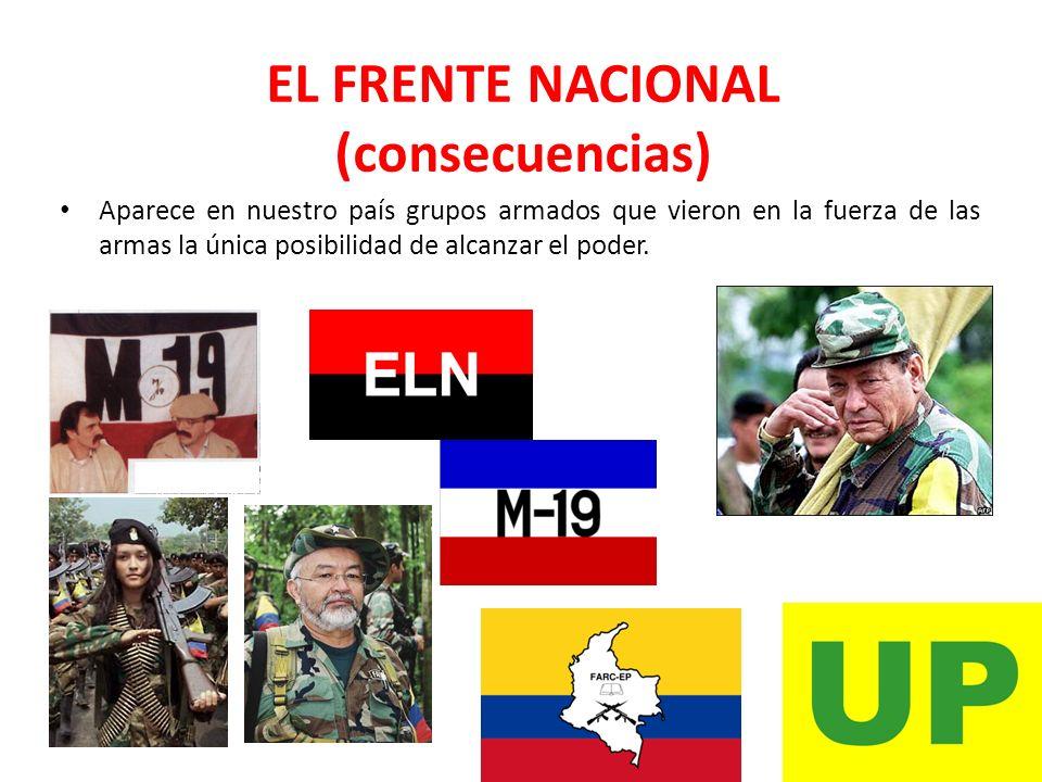 EL FRENTE NACIONAL (consecuencias)