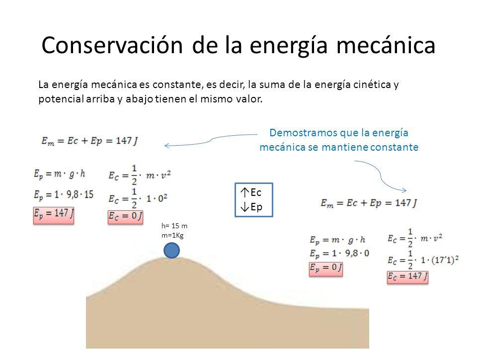 Conservación de la energía mecánica