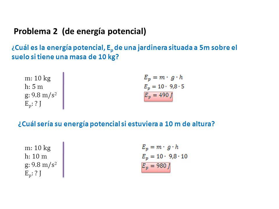 Problema 2 (de energía potencial)
