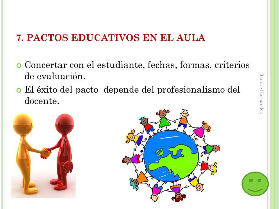 7. PACTOS EDUCATIVOS EN EL AULA