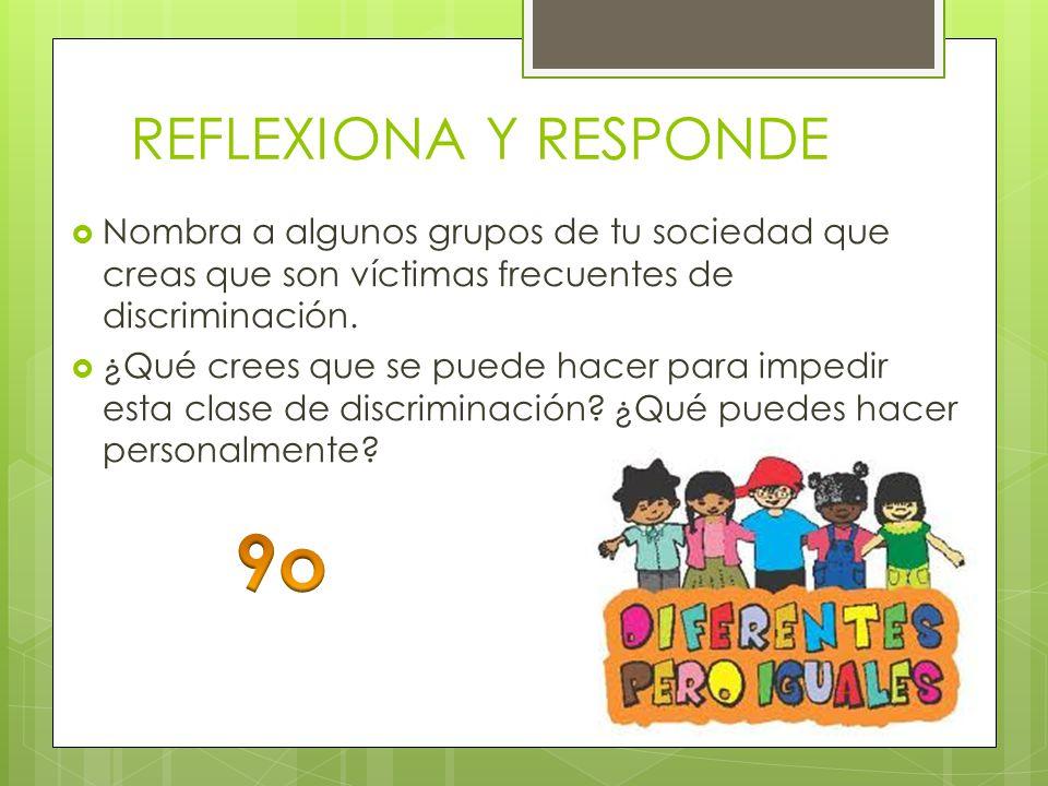 9o REFLEXIONA Y RESPONDE