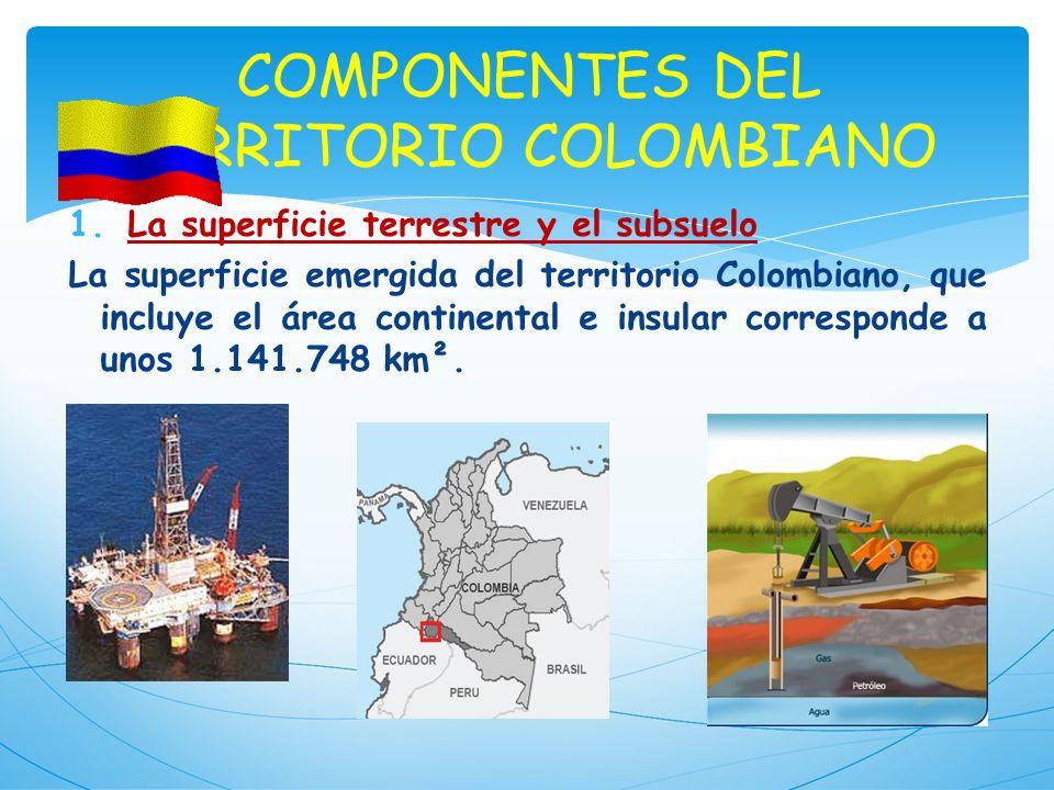 COMPONENTES DEL TERRITORIO COLOMBIANO