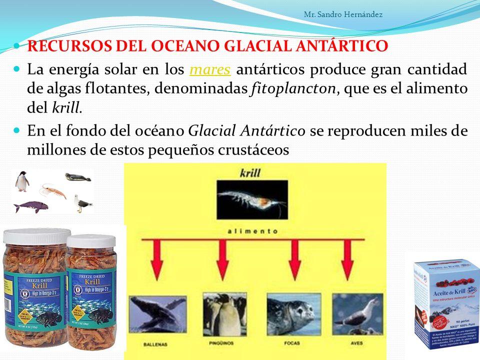 RECURSOS DEL OCEANO GLACIAL ANTÁRTICO