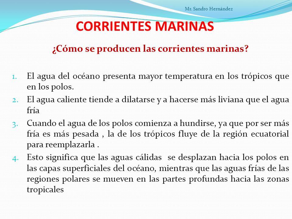 ¿Cómo se producen las corrientes marinas