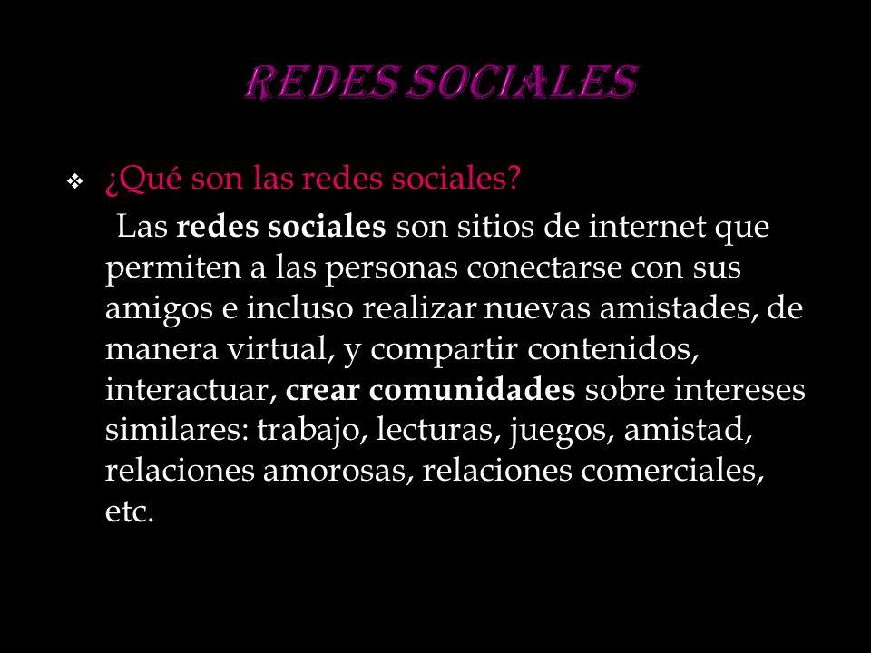 Redes sociales ¿Qué son las redes sociales