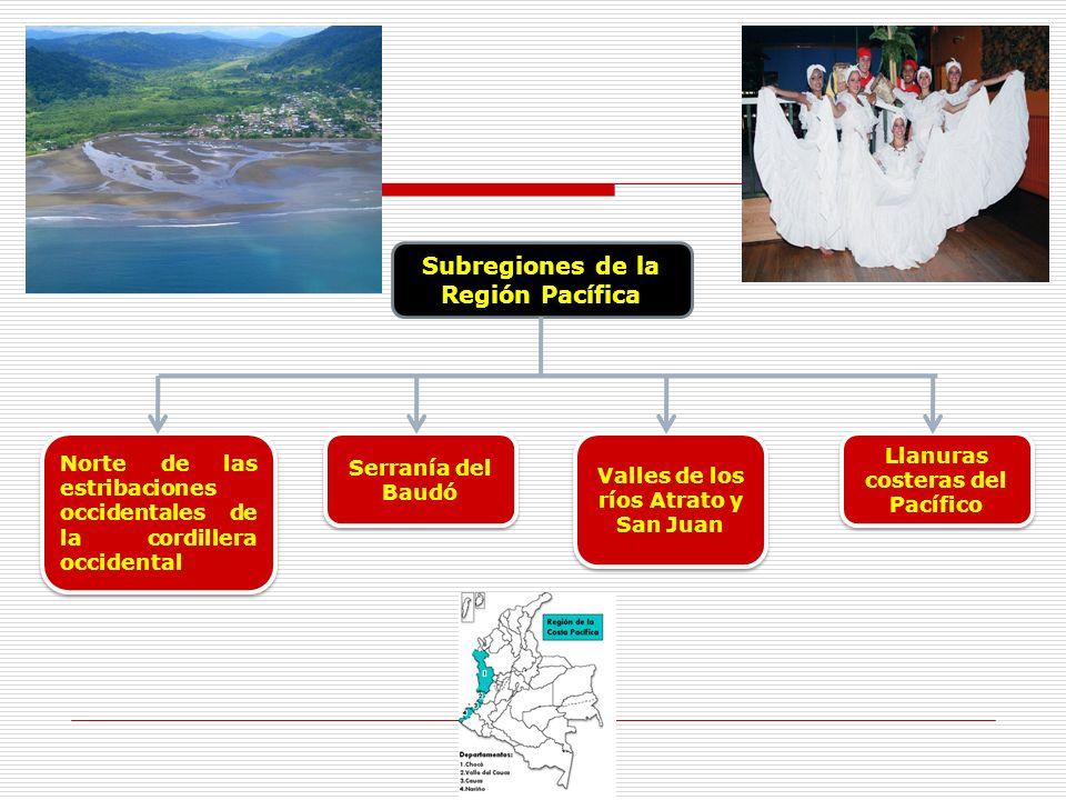 Subregiones de la Región Pacífica