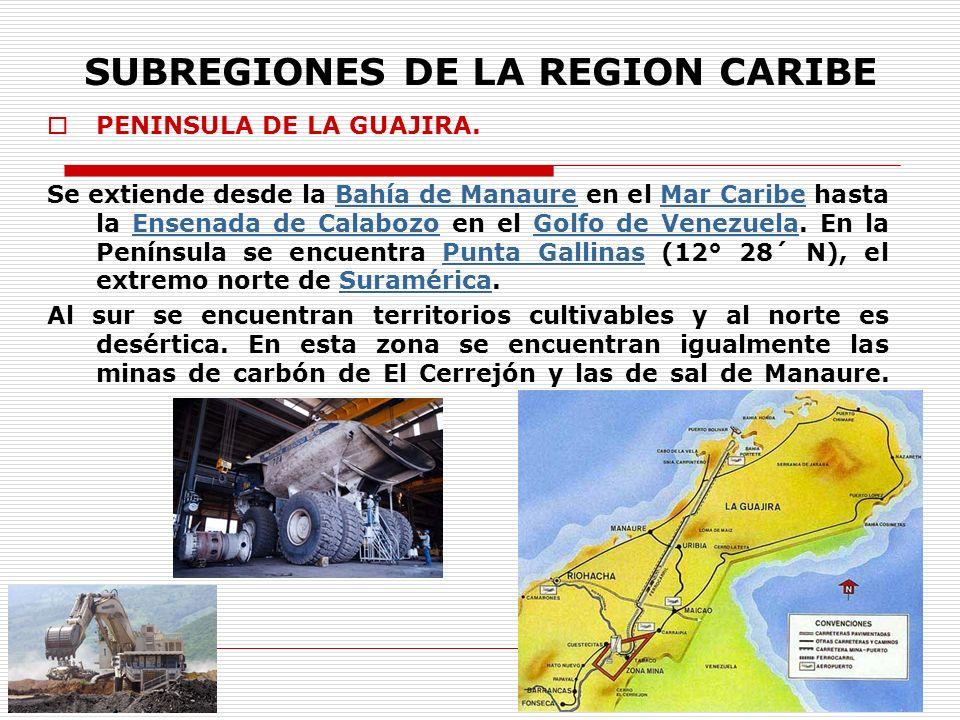 SUBREGIONES DE LA REGION CARIBE