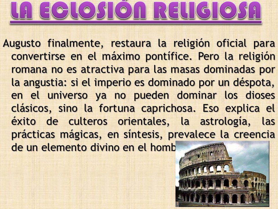 LA ECLOSIÓN RELIGIOSA