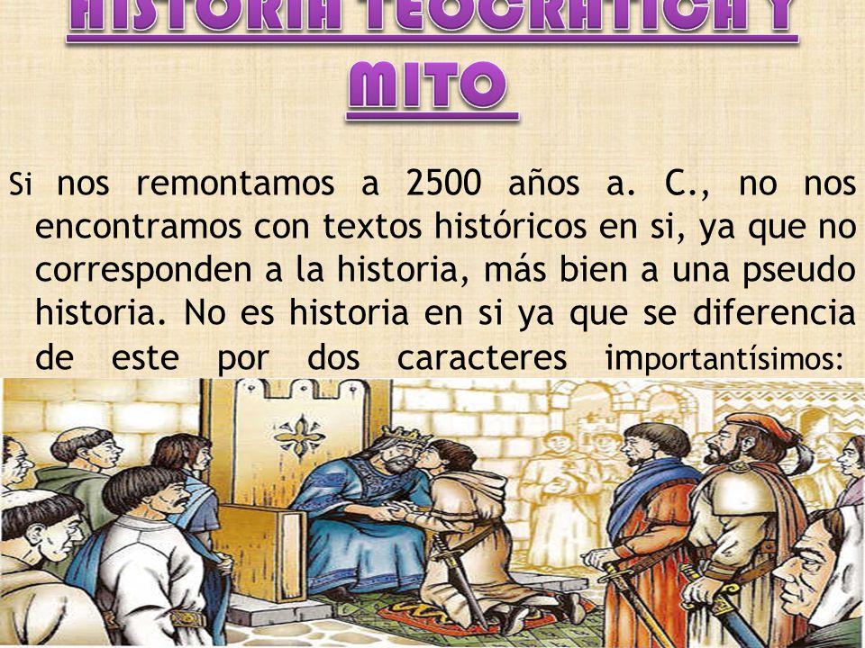 HISTORIA TEOCRÁTICA Y MITO