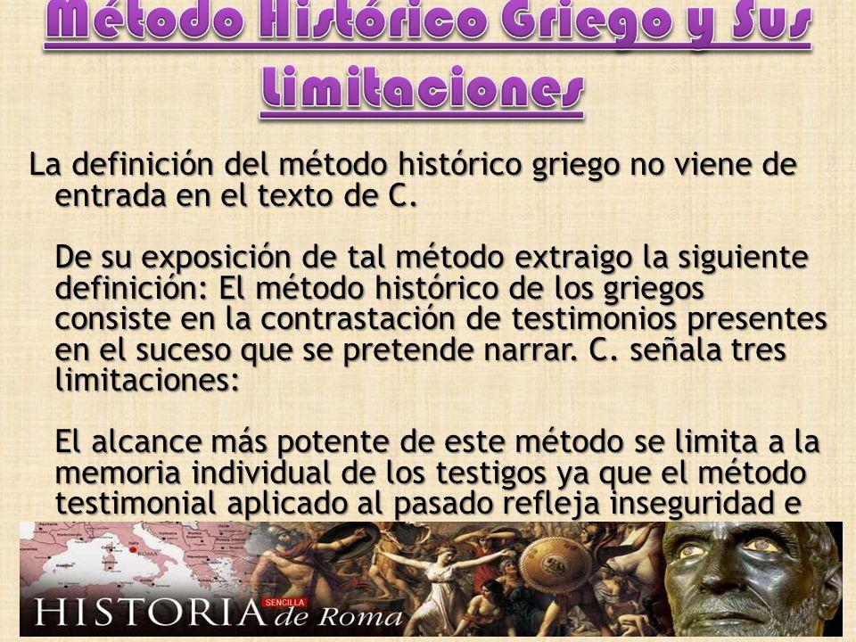 Método Histórico Griego y Sus Limitaciones