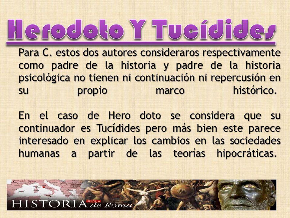 Herodoto Y Tucídides