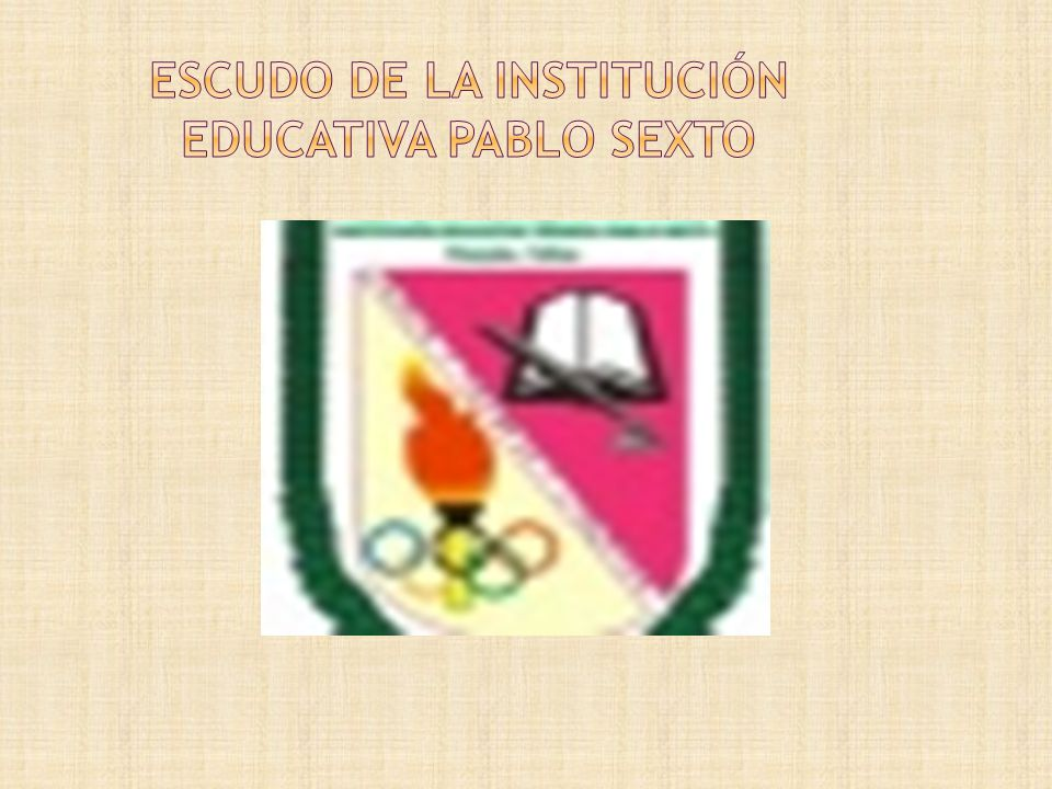 Escudo de la institución educativa pablo sexto