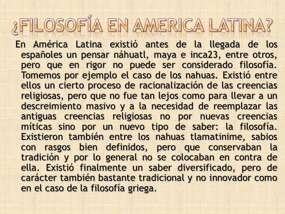 ¿Filosofía en america latina