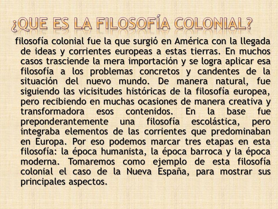 ¿que es la filosofía colonial