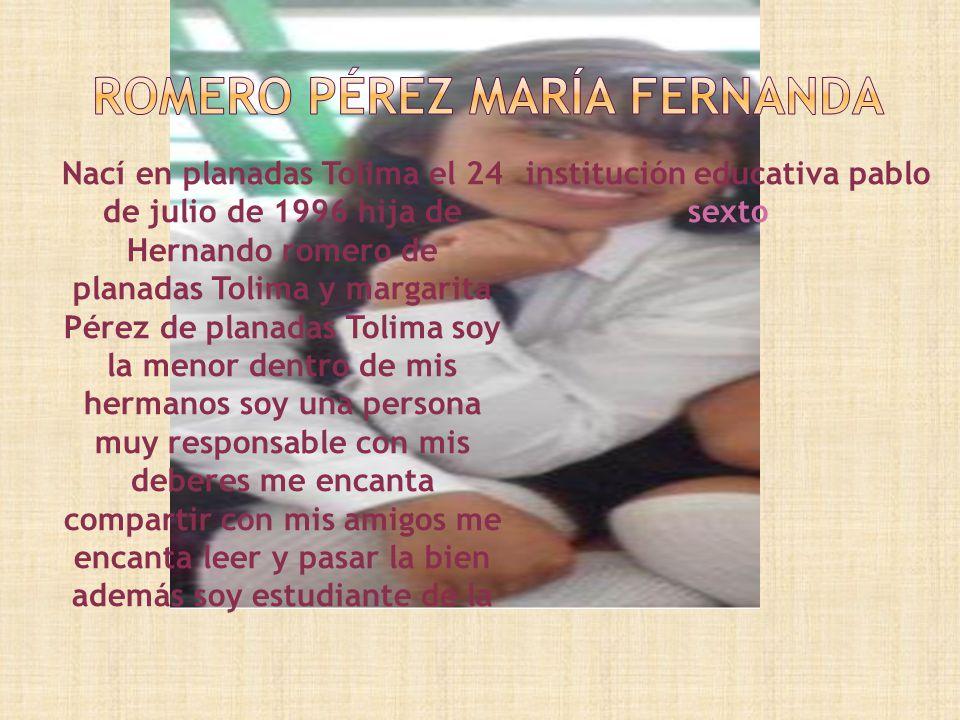 Romero Pérez María Fernanda