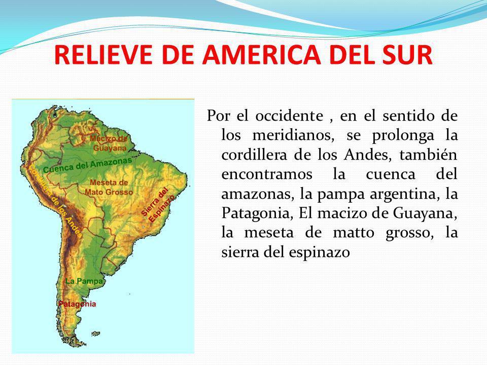 RELIEVE DE AMERICA DEL SUR