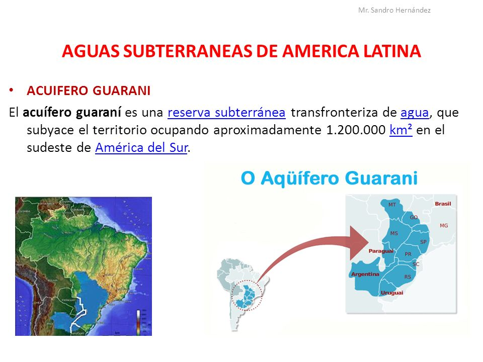 AGUAS SUBTERRANEAS DE AMERICA LATINA