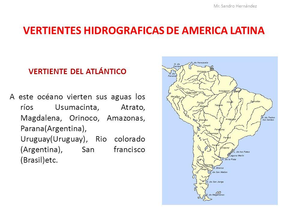 VERTIENTES HIDROGRAFICAS DE AMERICA LATINA