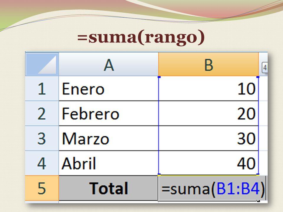 =suma(rango)