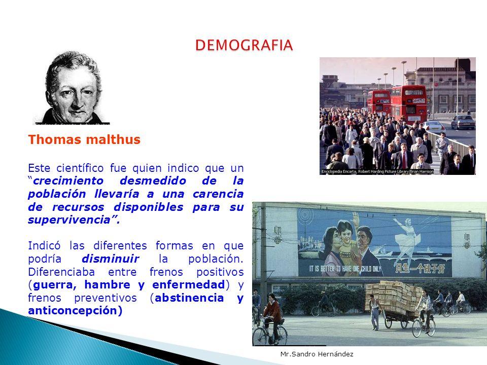 DEMOGRAFIA Thomas malthus