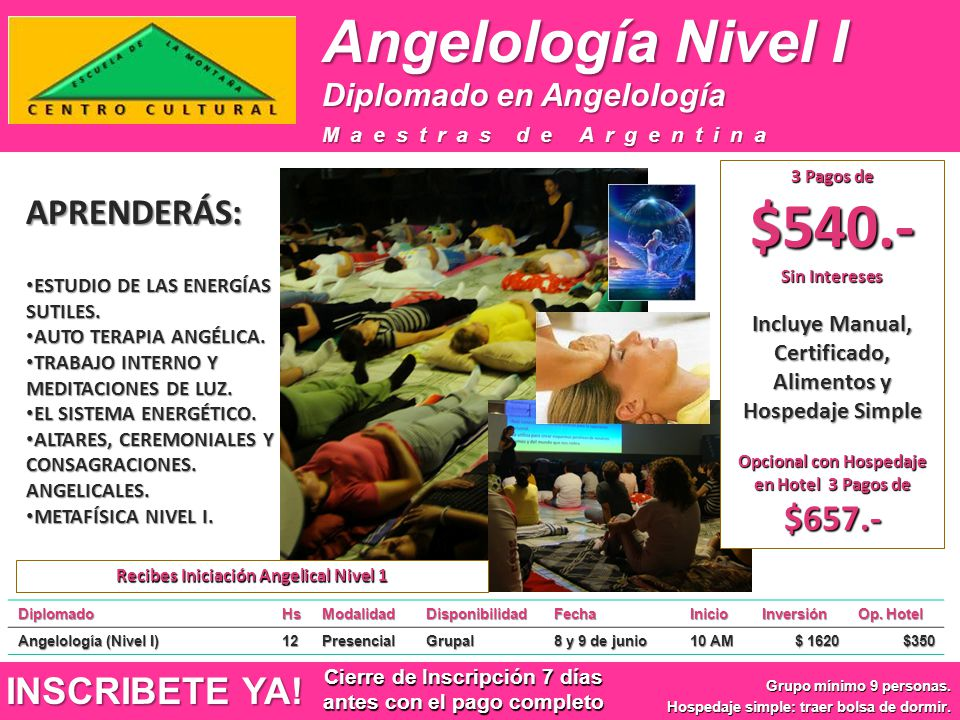 Angelología Nivel I APRENDERÁS: INSCRIBETE YA!
