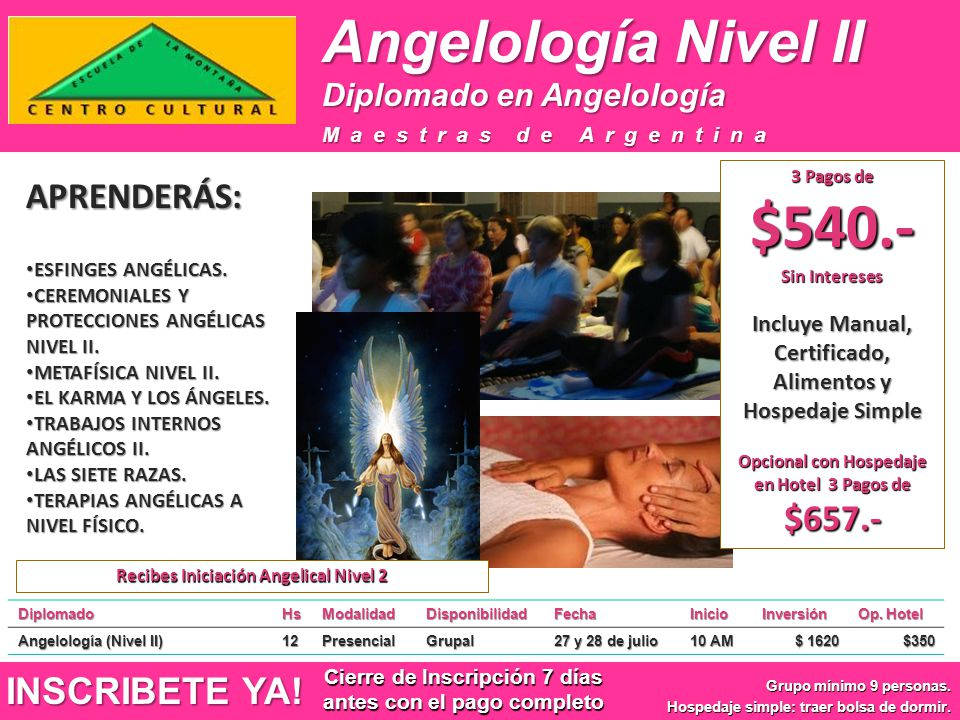 Angelología Nivel II APRENDERÁS: INSCRIBETE YA!