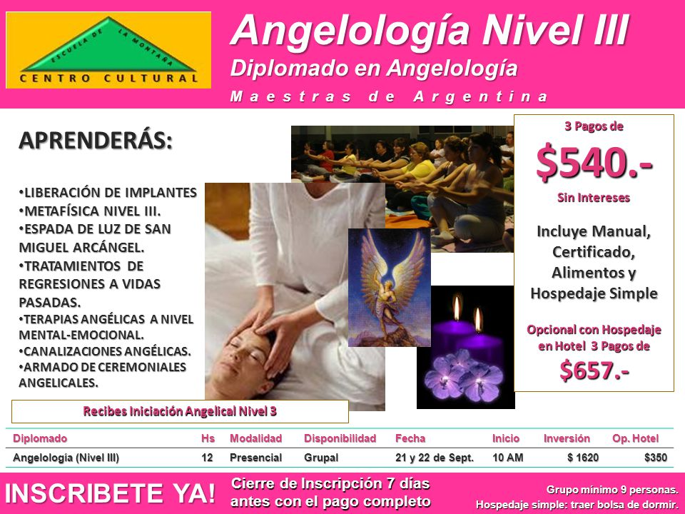Angelología Nivel III APRENDERÁS: INSCRIBETE YA!