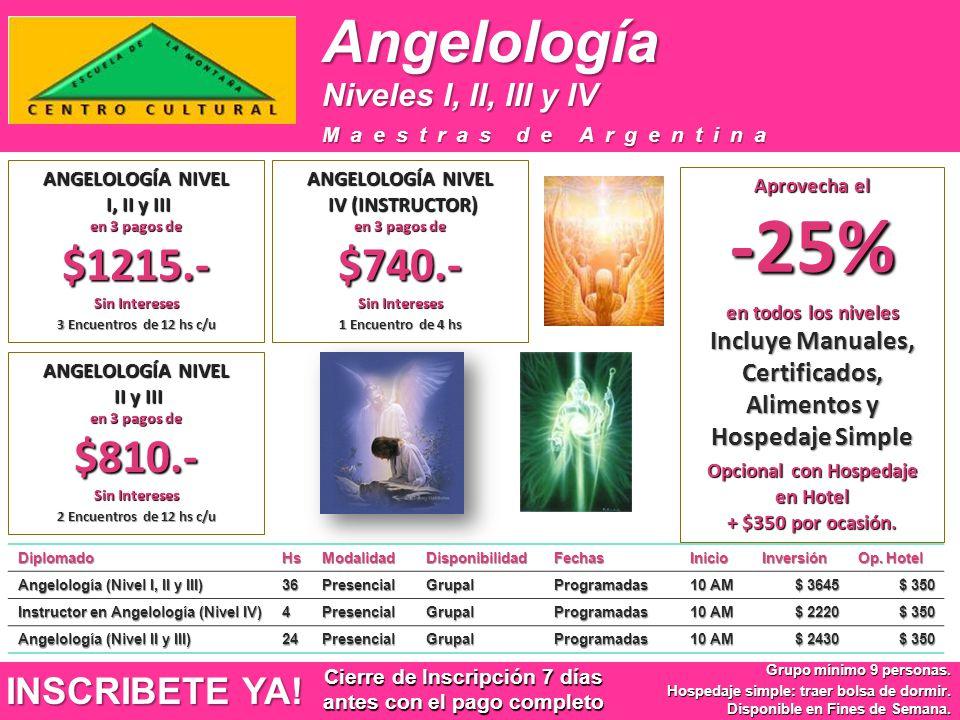 Angelología INSCRIBETE YA! Niveles I, II, III y IV