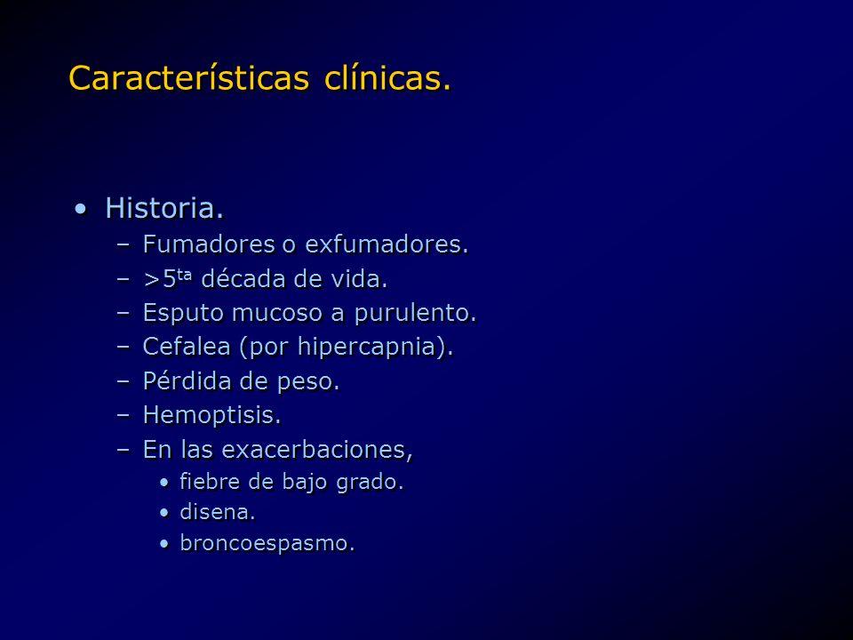 Características clínicas.