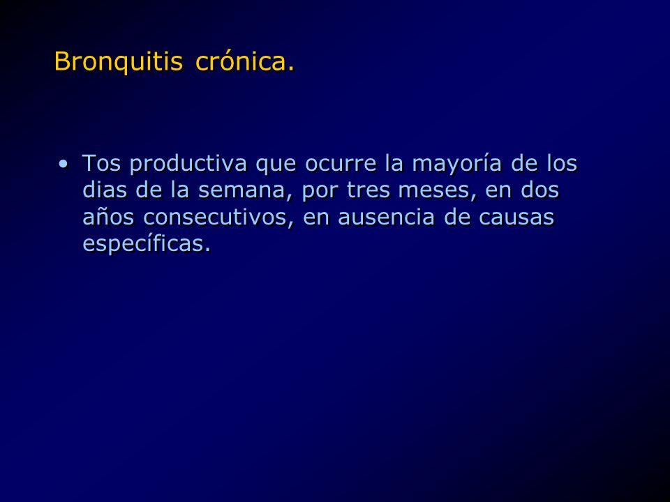 Bronquitis crónica.