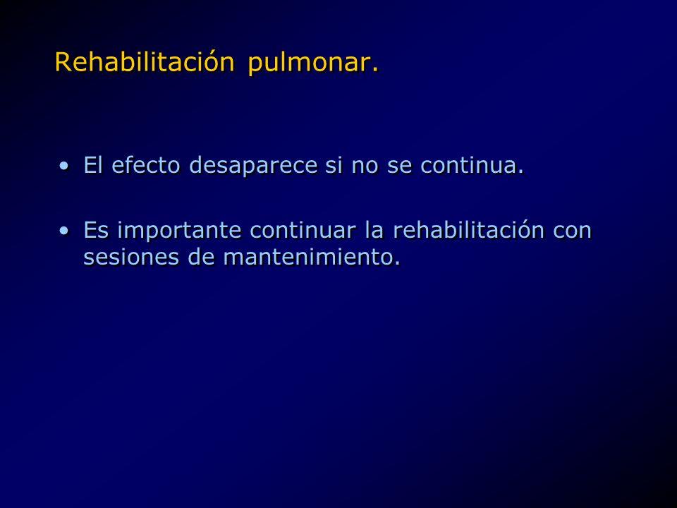 Rehabilitación pulmonar.