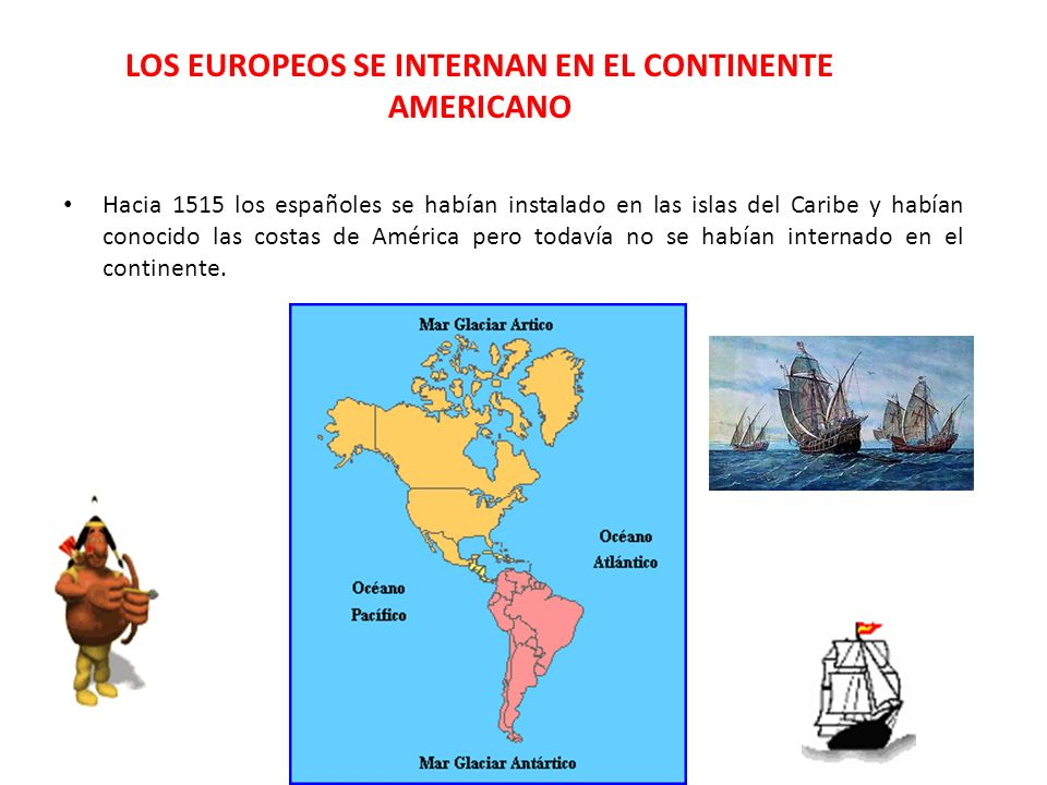 LOS EUROPEOS SE INTERNAN EN EL CONTINENTE AMERICANO