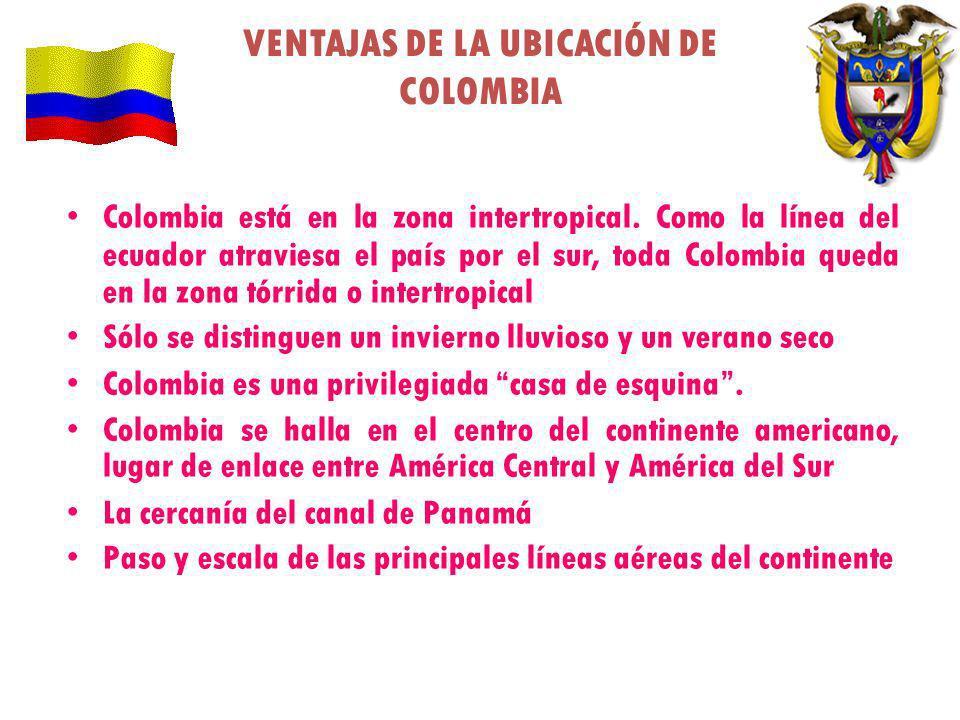 VENTAJAS DE LA UBICACIÓN DE COLOMBIA