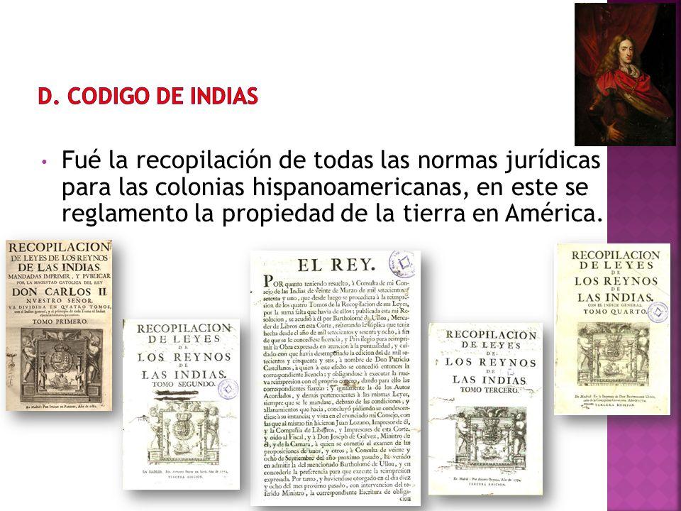 D. CODIGO DE INDIAS