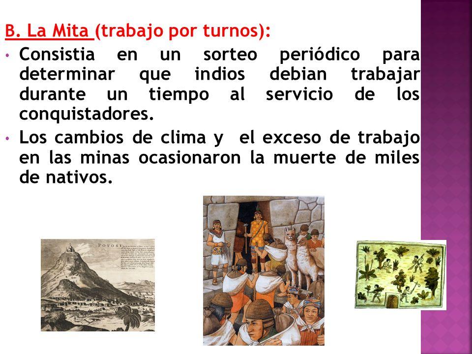 B. La Mita (trabajo por turnos):