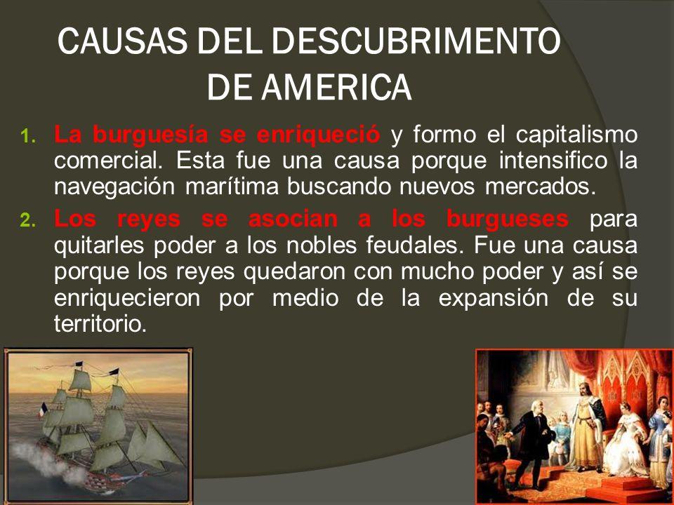CAUSAS DEL DESCUBRIMENTO DE AMERICA