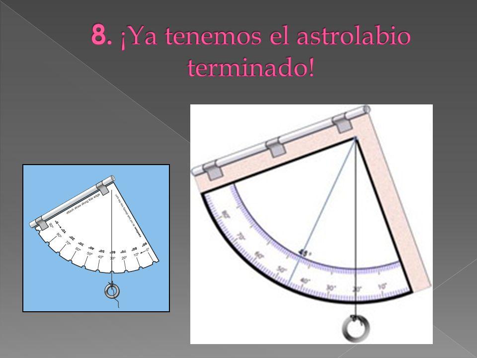 8. ¡Ya tenemos el astrolabio terminado!